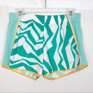 🌺NIKE DRI FIT Running Shorts-Blue/White-Small